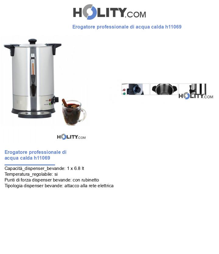Erogatore professionale di acqua calda h11069
