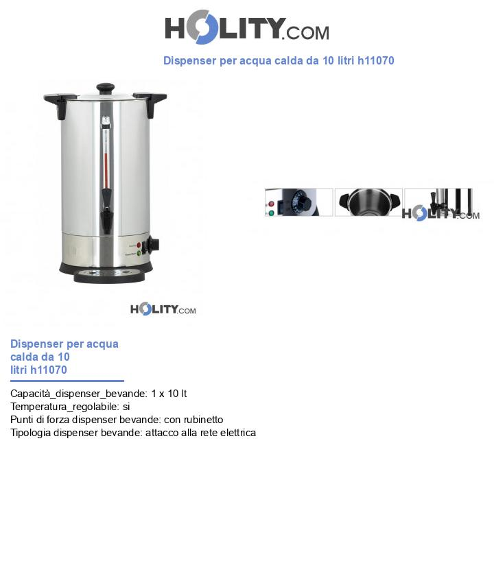 Dispenser per acqua calda da 10 litri h11070