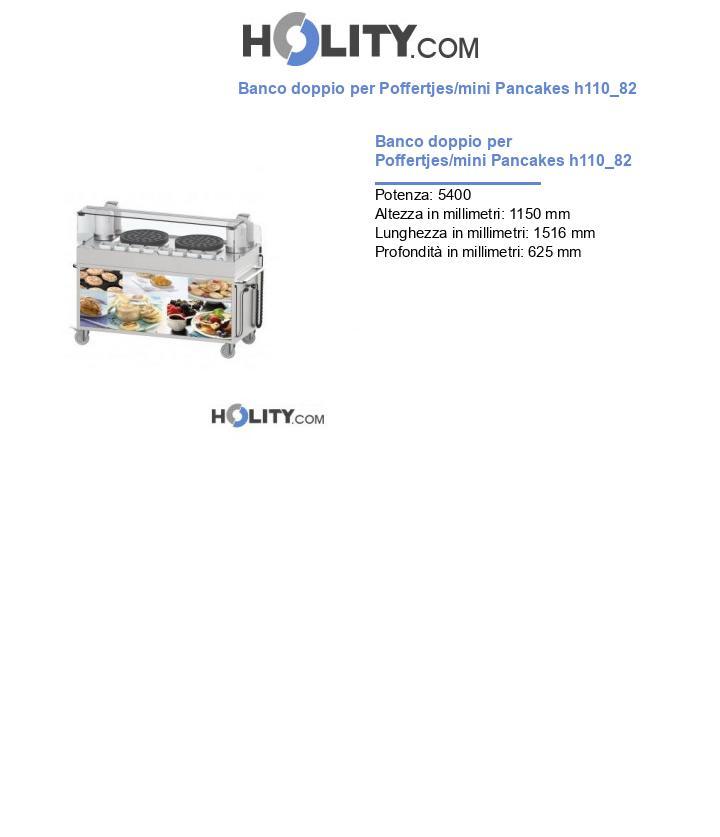 Banco doppio per Poffertjes/mini Pancakes h110_82