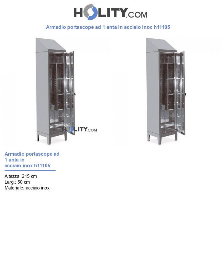 Armadio Portascope Ad 1 Anta In Acciaio Inox H11105