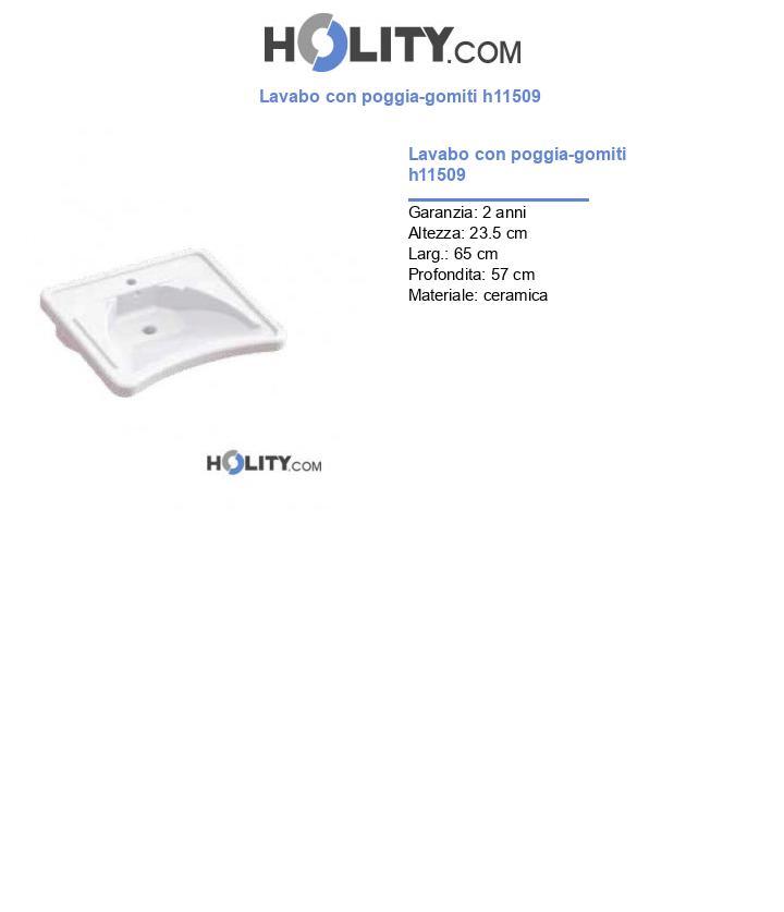 Lavabo con poggia-gomiti h11509