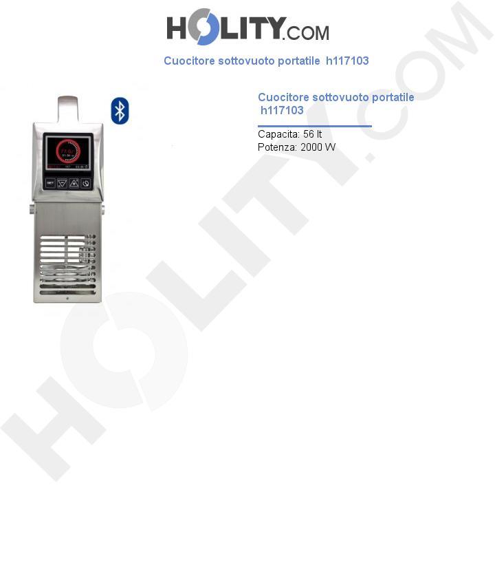 Cuocitore sottovuoto portatile  h117103