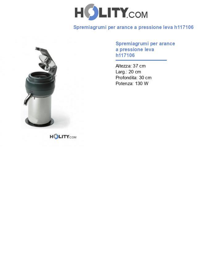 Spremiagrumi per arance a pressione leva h117106