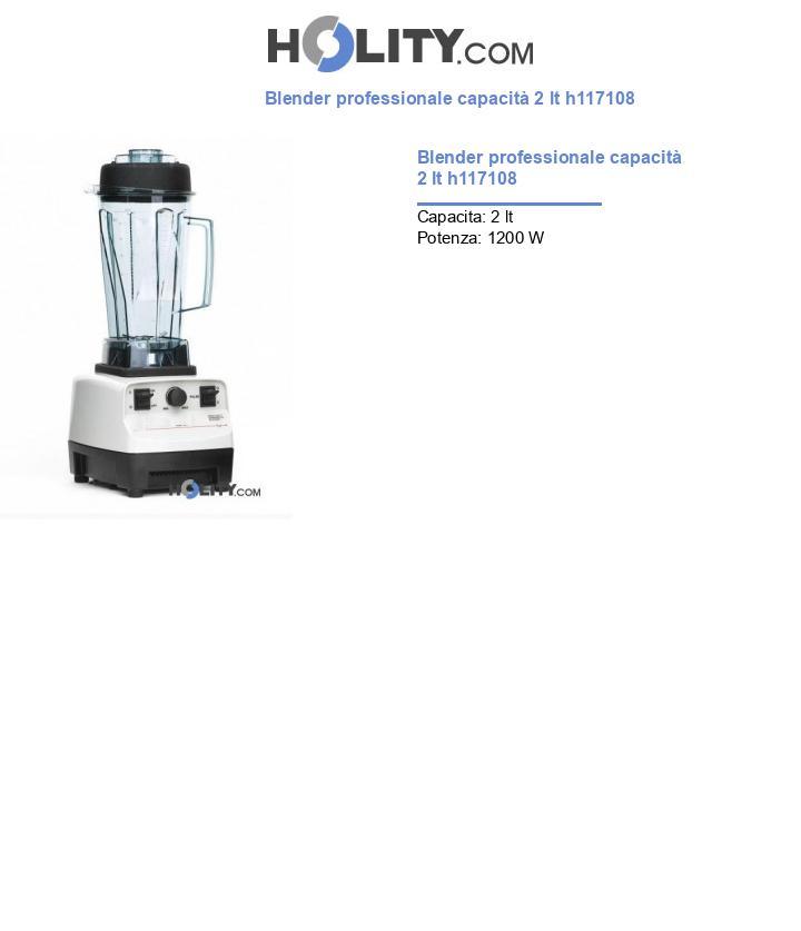 Blender professionale capacità 2 lt h117108