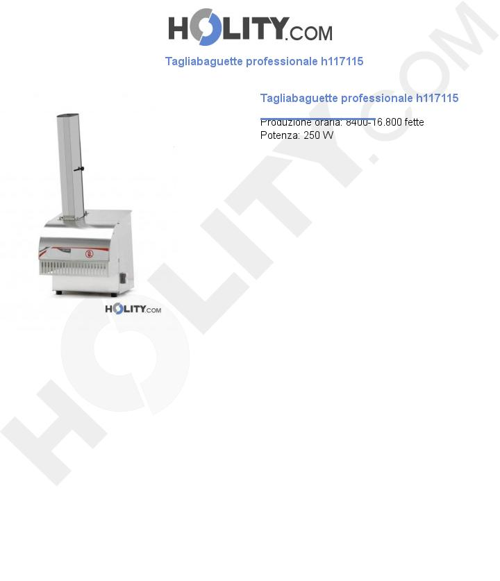 Tagliabaguette professionale h117115