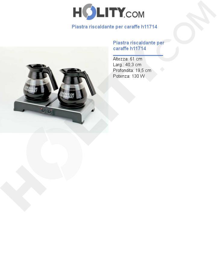Piastra riscaldante per caraffe h11714