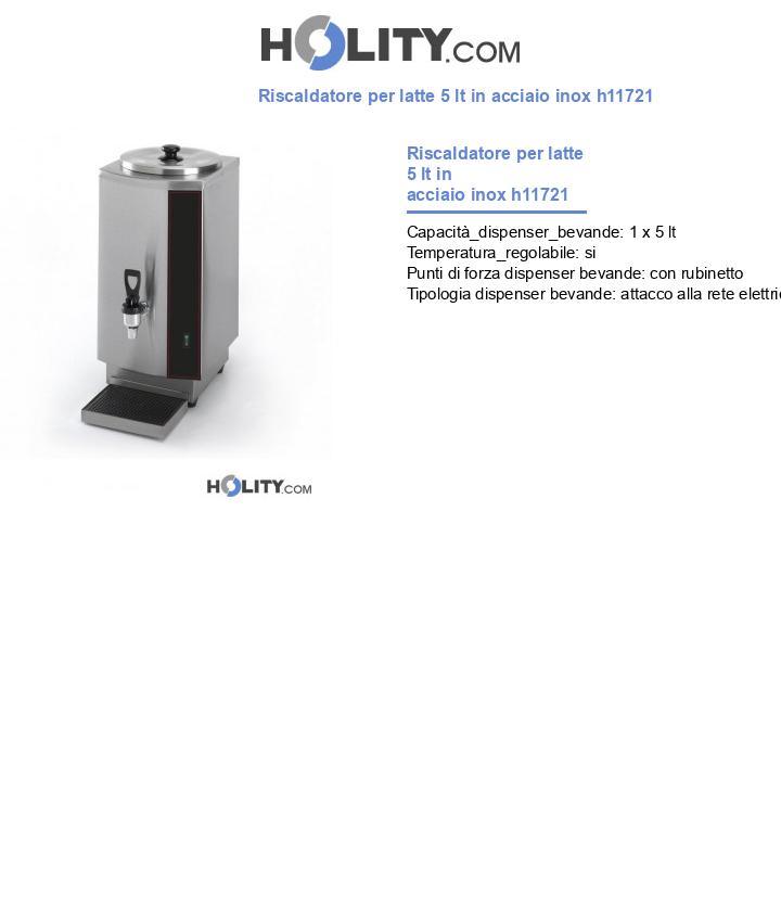Riscaldatore per latte 5 lt in acciaio inox h11721