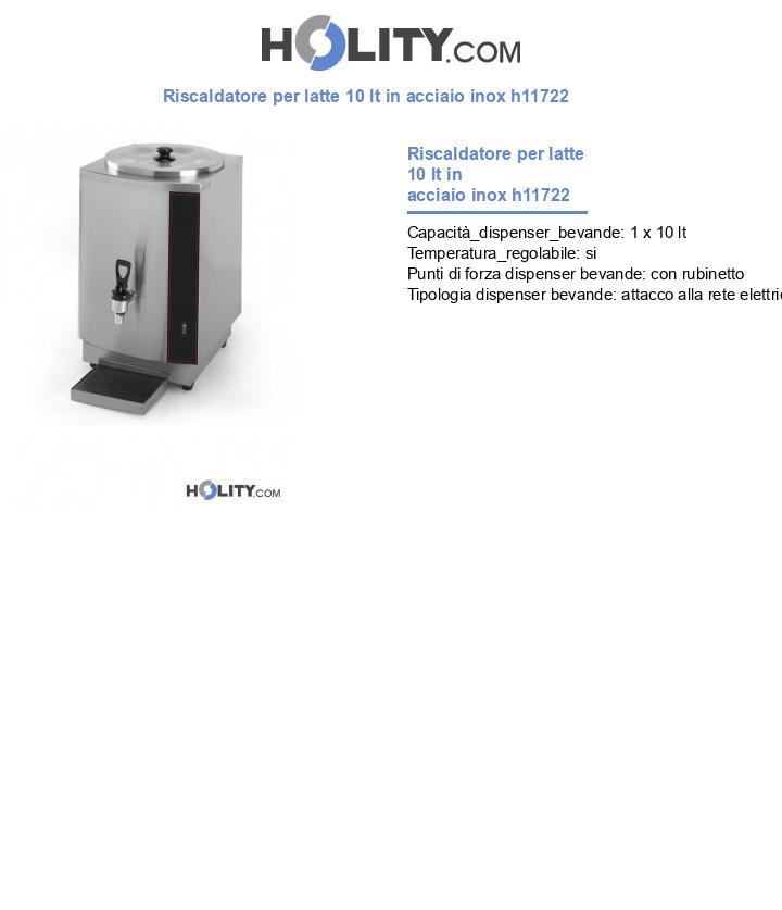 Riscaldatore per latte 10 lt in acciaio inox h11722