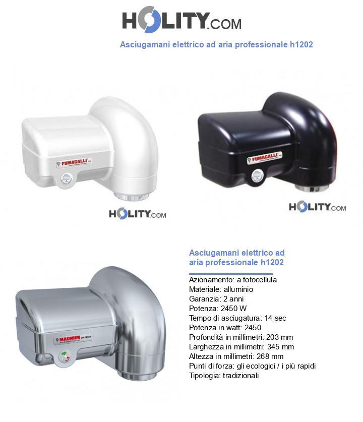 Asciugamani elettrico ad aria professionale h1202