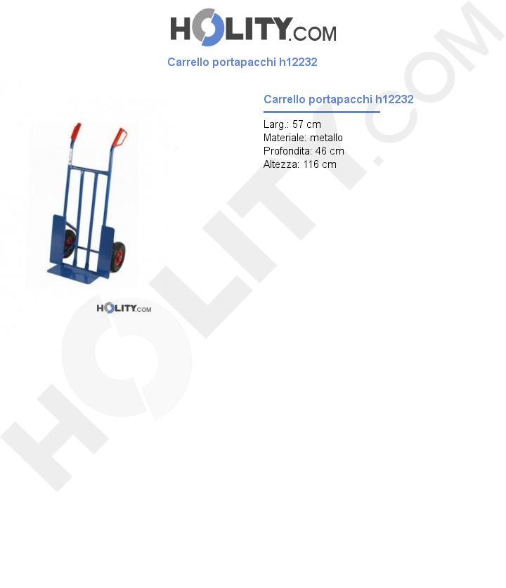 Carrello portapacchi h12232