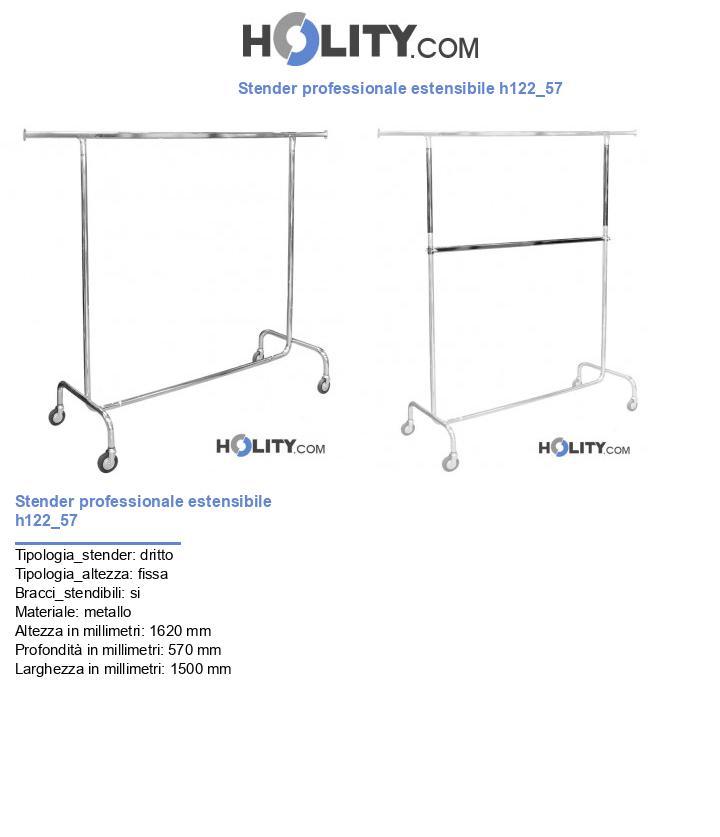 Stender professionale estensibile h122_57