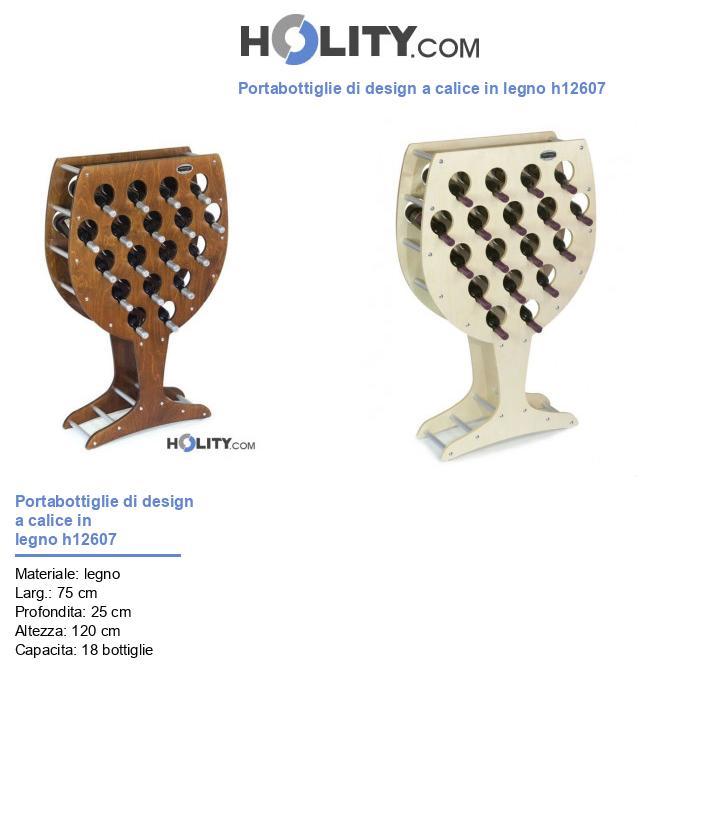 Portabottiglie di design a calice in legno h12607