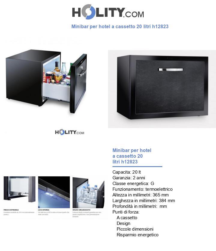 Minibar per hotel a cassetto 20 litri h12823