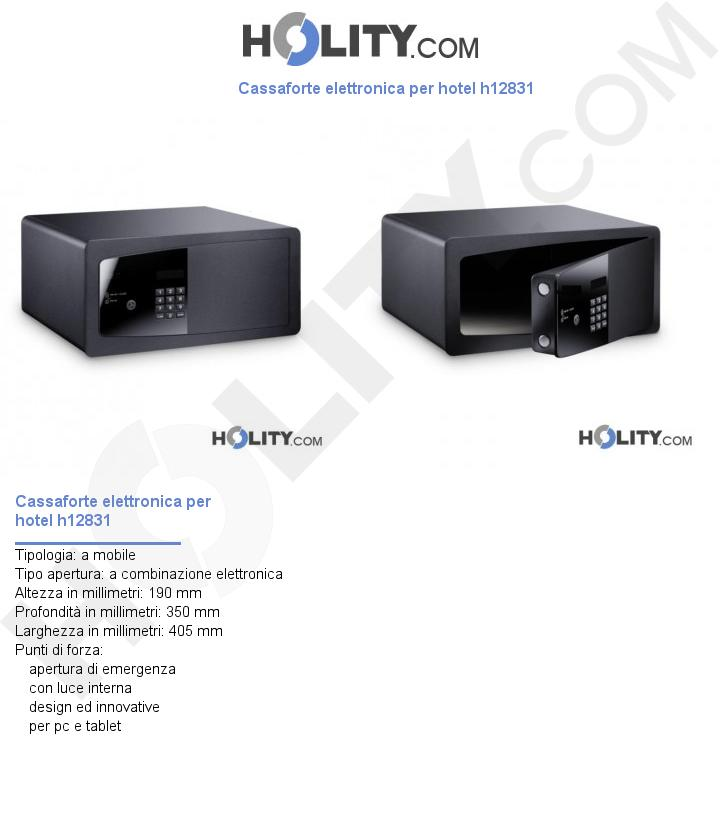 Cassaforte elettronica per hotel h12831