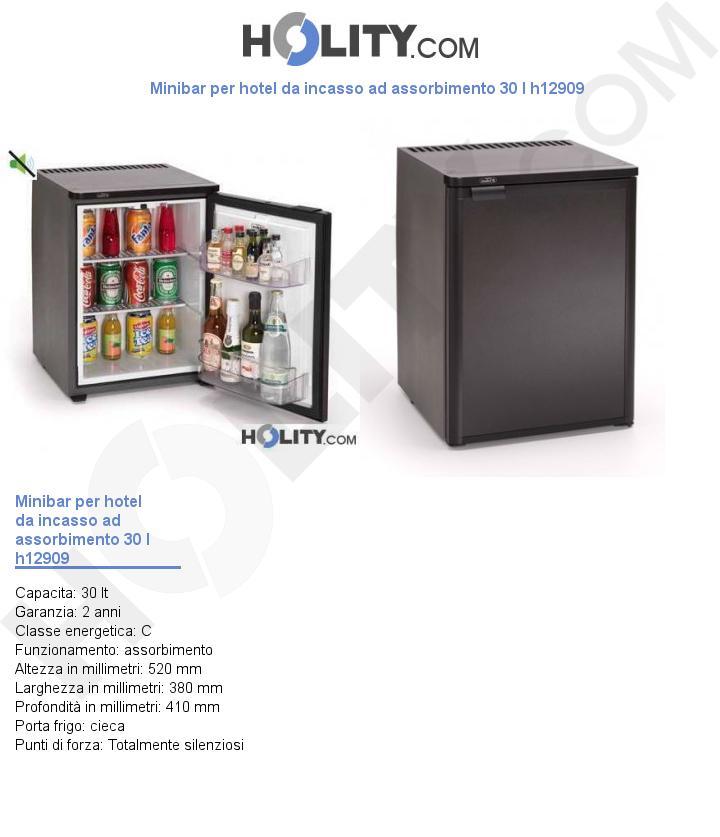 Minibar per hotel da incasso ad assorbimento 30 l h12909