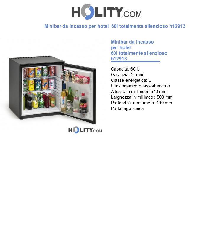 Minibar da incasso per hotel  60l totalmente silenzioso h12913