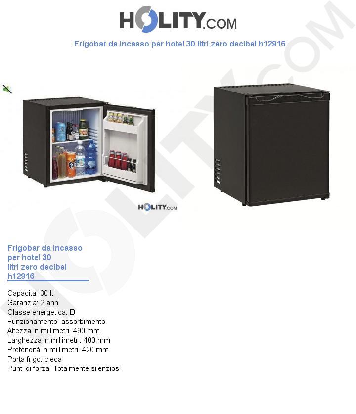 Frigobar da incasso per hotel 30 litri zero decibel h12916