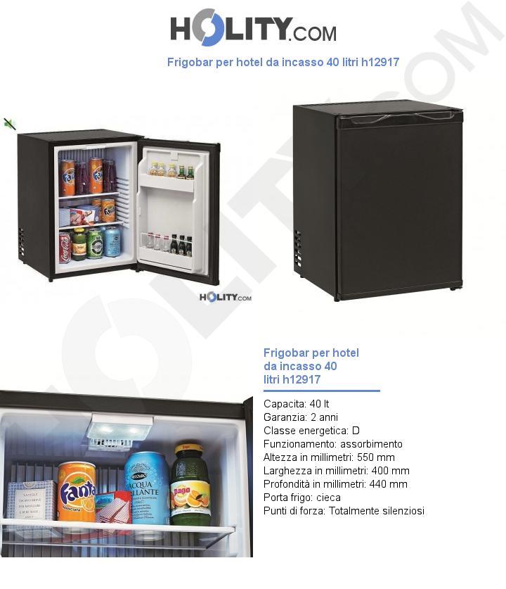 Frigobar per hotel da incasso 40 litri h12917