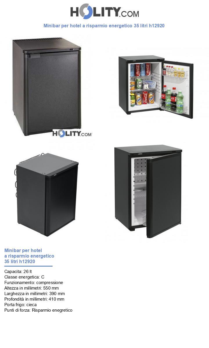 Minibar per hotel a risparmio energetico 35 litri h12920