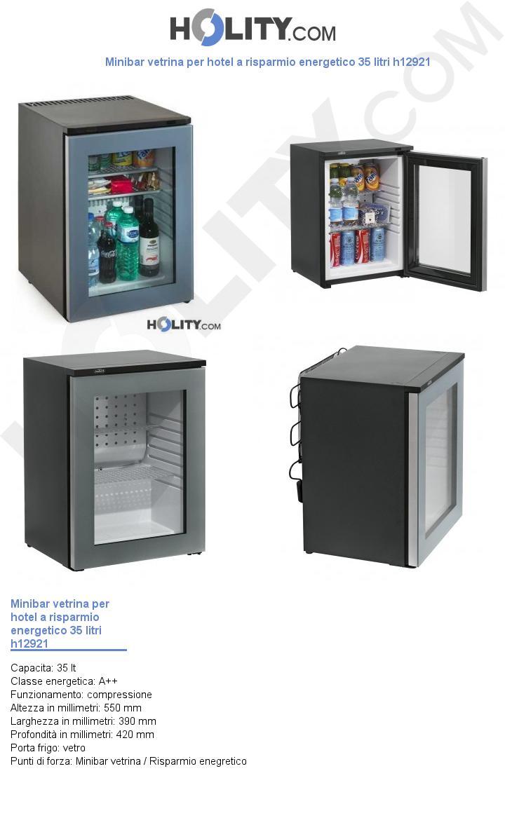 Minibar vetrina per hotel a risparmio energetico 35 litri h12921