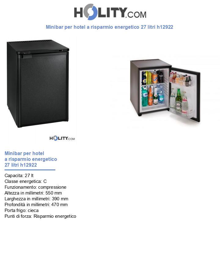 Minibar per hotel a risparmio energetico 40 litri h12922
