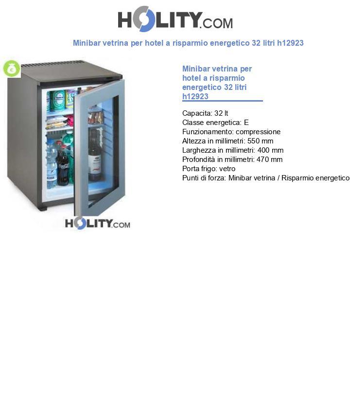 Minibar vetrina per hotel a risparmio energetico 40 litri h12923
