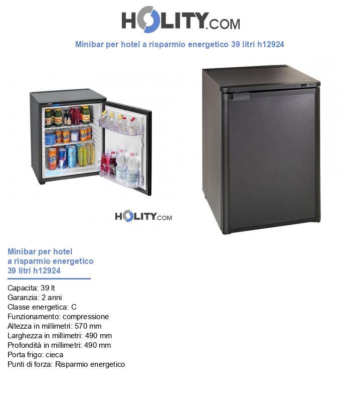 Minibar per hotel a risparmio energetico 60 litri h12924