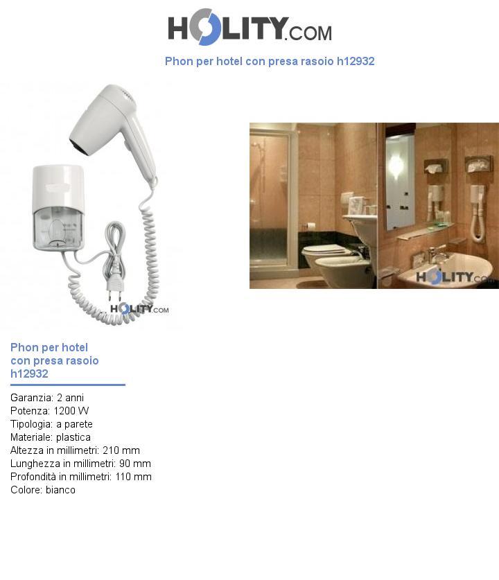 Phon per hotel con presa rasoio h12932