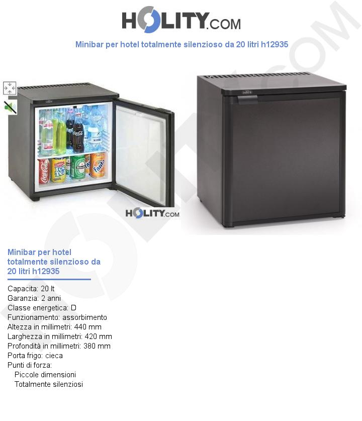 Minibar per hotel totalmente silenzioso da 20 litri h12935