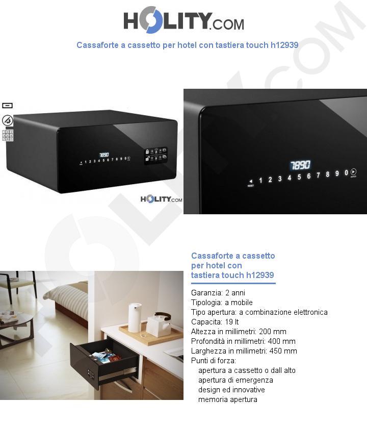 Cassaforte a cassetto per hotel con tastiera touch h12939