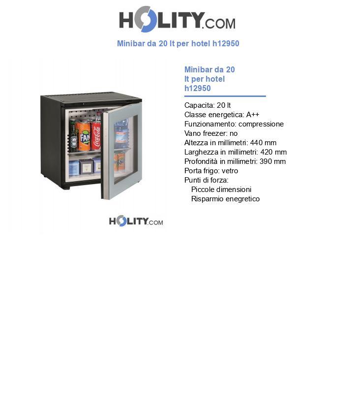Minibar da 20 lt per hotel h12950