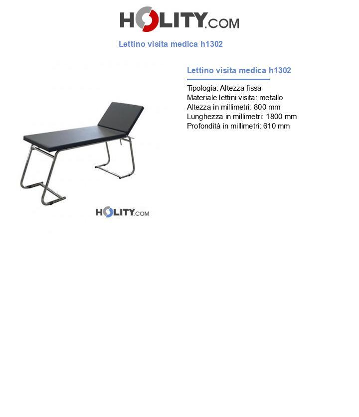 Lettino visita medica h1302