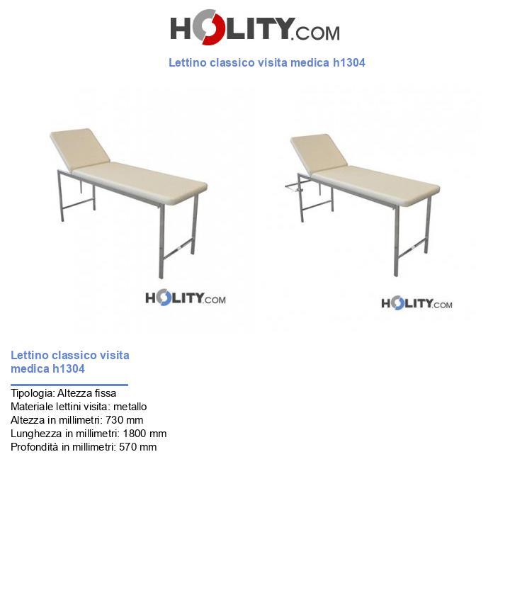 Lettino classico visita medica h1304