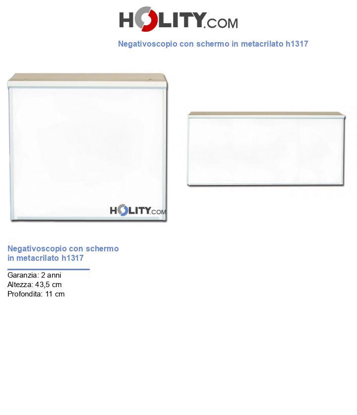 Negativoscopio con schermo in metacrilato h1317