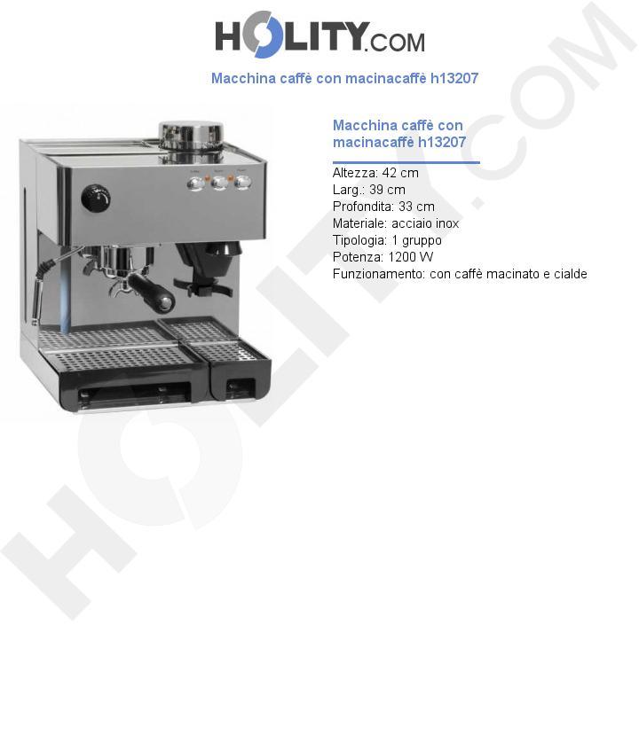 Macchina caffè con macinacaffè h13207
