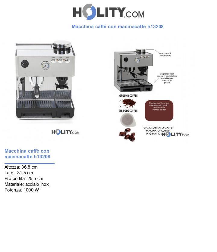 Macchina caffè con macinacaffè h13208