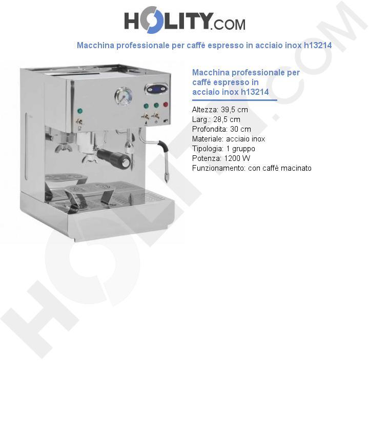 Macchina professionale per caffè espresso in acciaio inox h13214