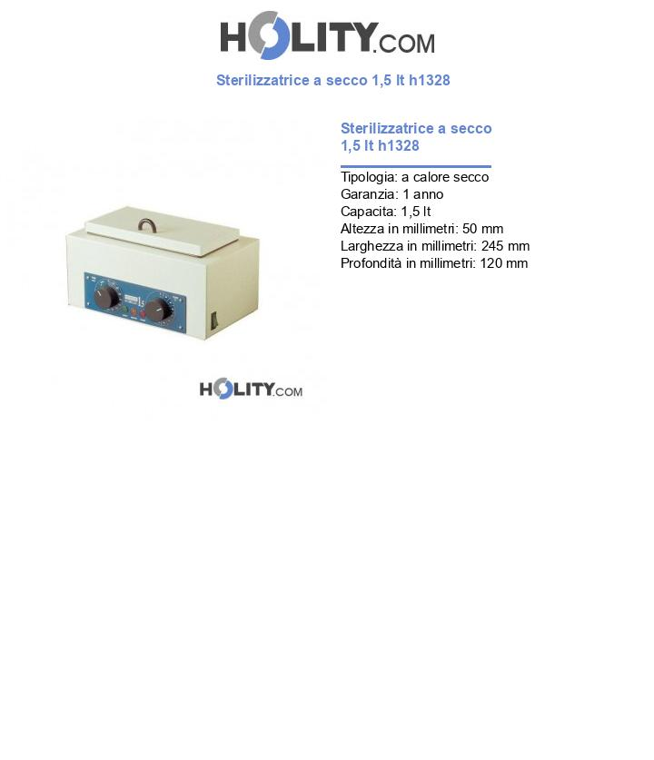 Sterilizzatrice a secco 1,5 lt h1328