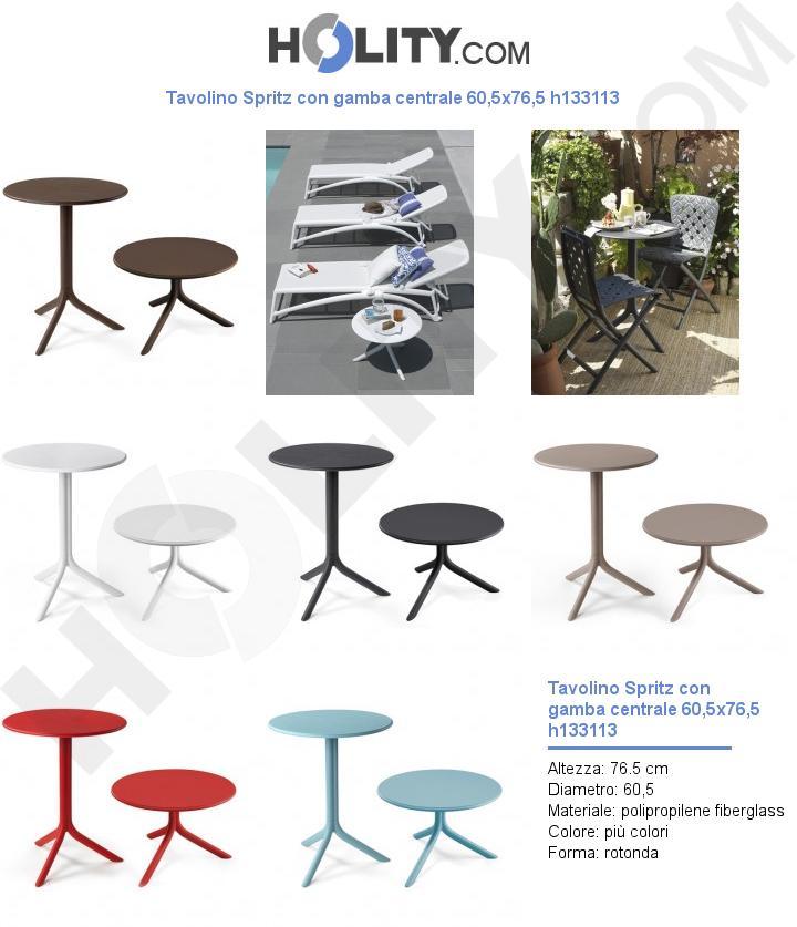 Tavolino Spritz con gamba centrale 60,5x76,5 h133113