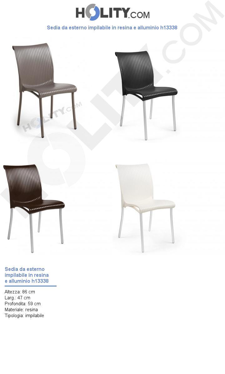 Sedie Resina Da Esterno.Cerchi Sedia Da Esterno Impilabile In Resina E Alluminio H13338