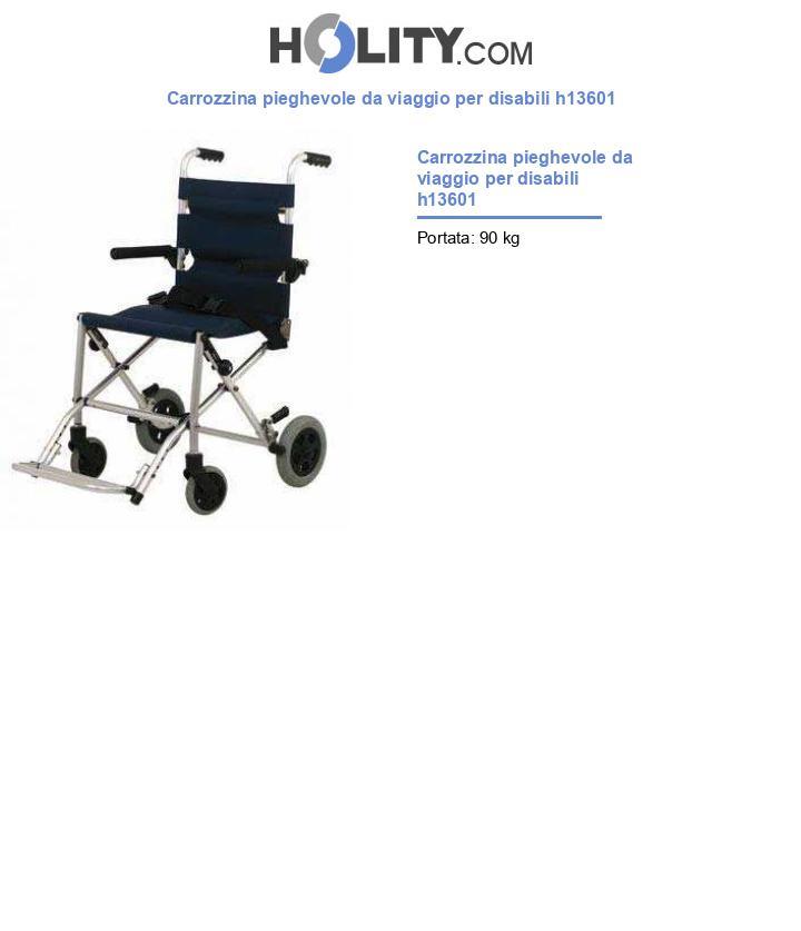 Carrozzina pieghevole da viaggio per disabili h13601