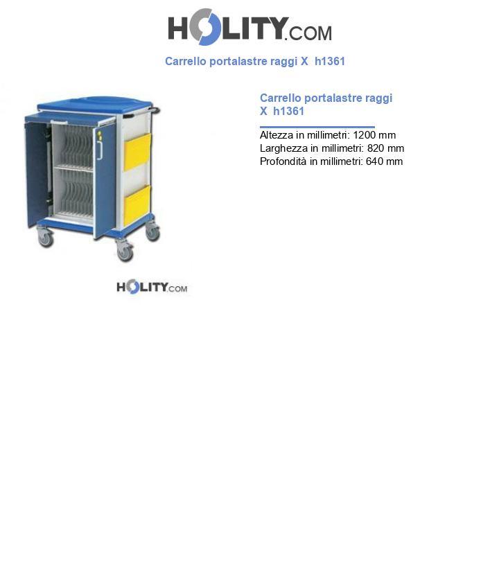 Carrello portalastre raggi X  h1361