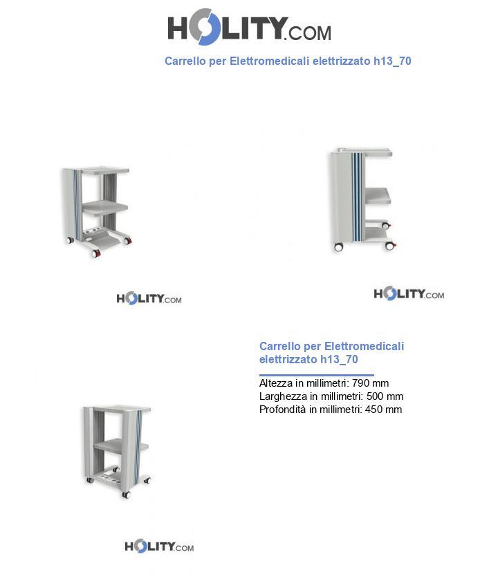 Carrello per Elettromedicali elettrizzato h13_70