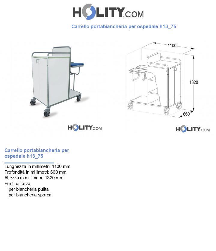 Carrello portabiancheria per ospedale h13_75