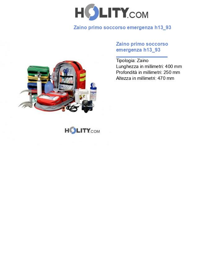 Zaino primo soccorso emergenza h13_93