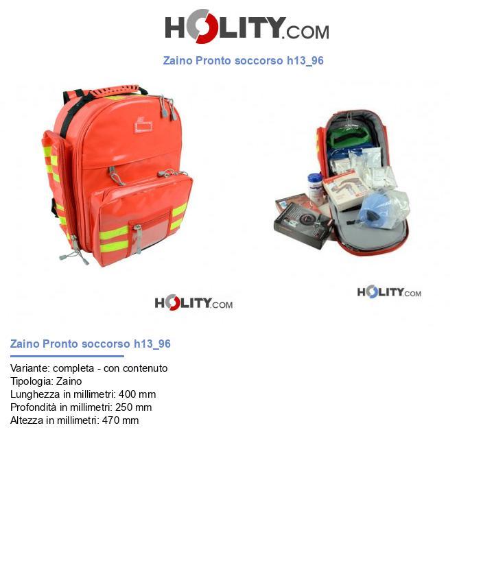 Zaino Pronto soccorso h13_96