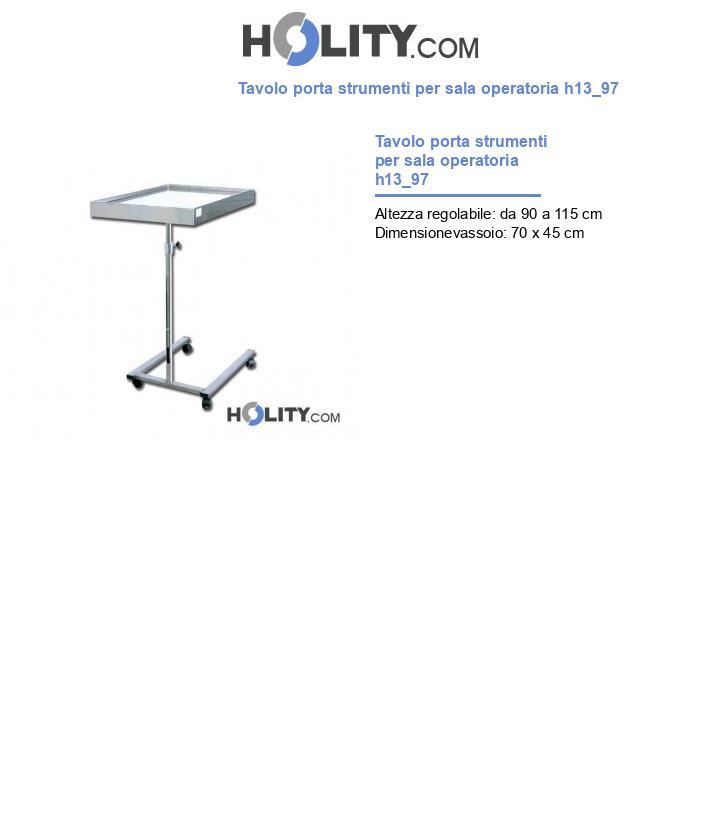 Tavolo porta strumenti per sala operatoria h13_97