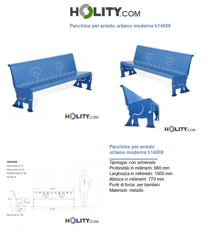 Panchina per arredo urbano moderna h14008