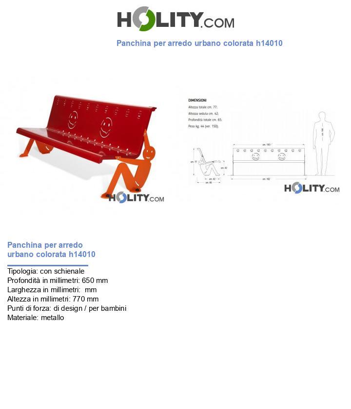 Panchina per arredo urbano colorata h14010