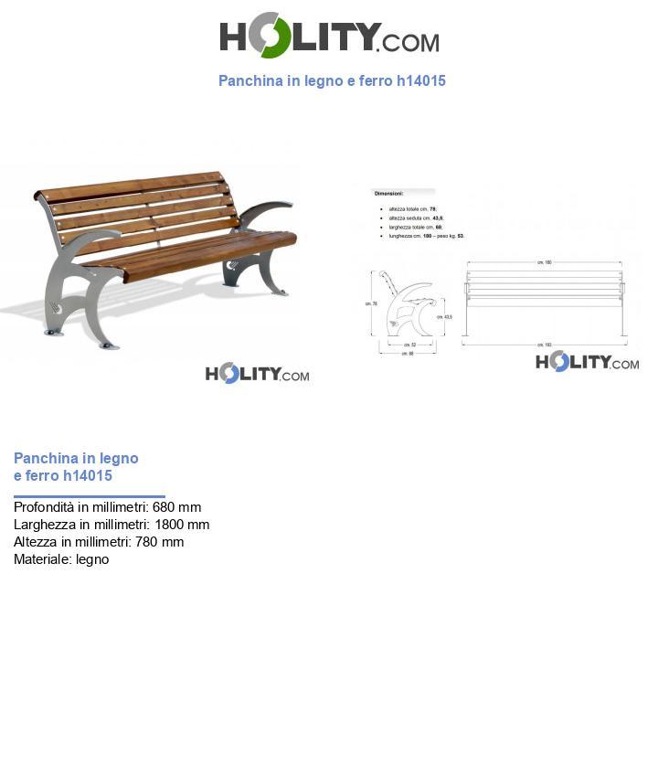 Panchina in legno e ferro h14015